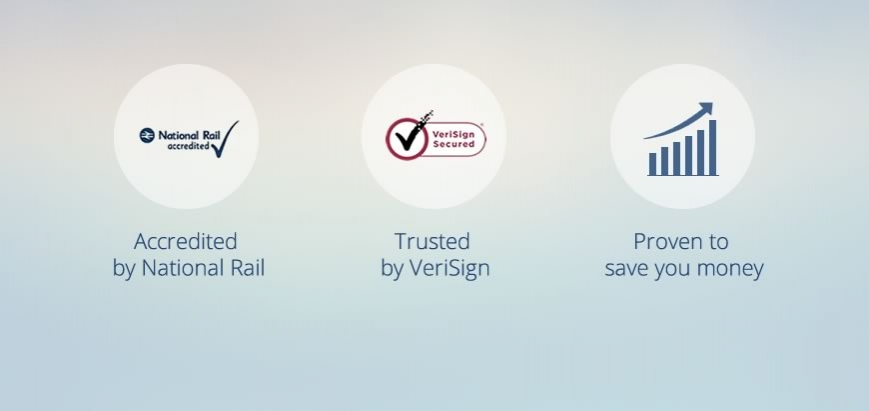 National Rail accredited, trusted by Verisign, proven to save you money